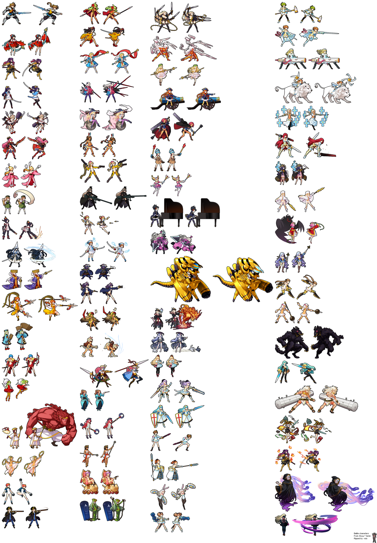 Battle Characters (Main Units) Pixel art, Rpg maker