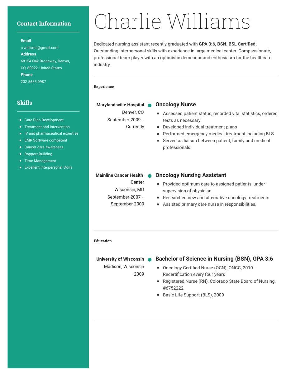 Cv Builder Resumecoach Cv Maker Nursing Assistant Cv Builder