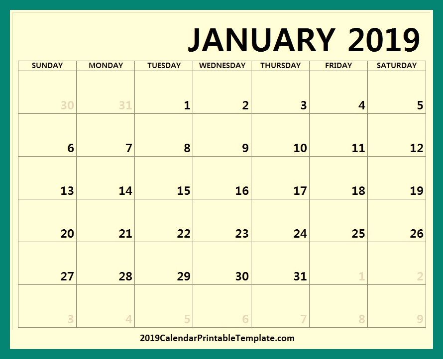 January 2019 Calendar Spanish https//www
