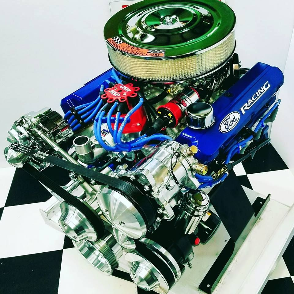302 Ho Crate Engine With Aod Transmission Combo Mustang Engine Ford Racing Engines Crate Engines