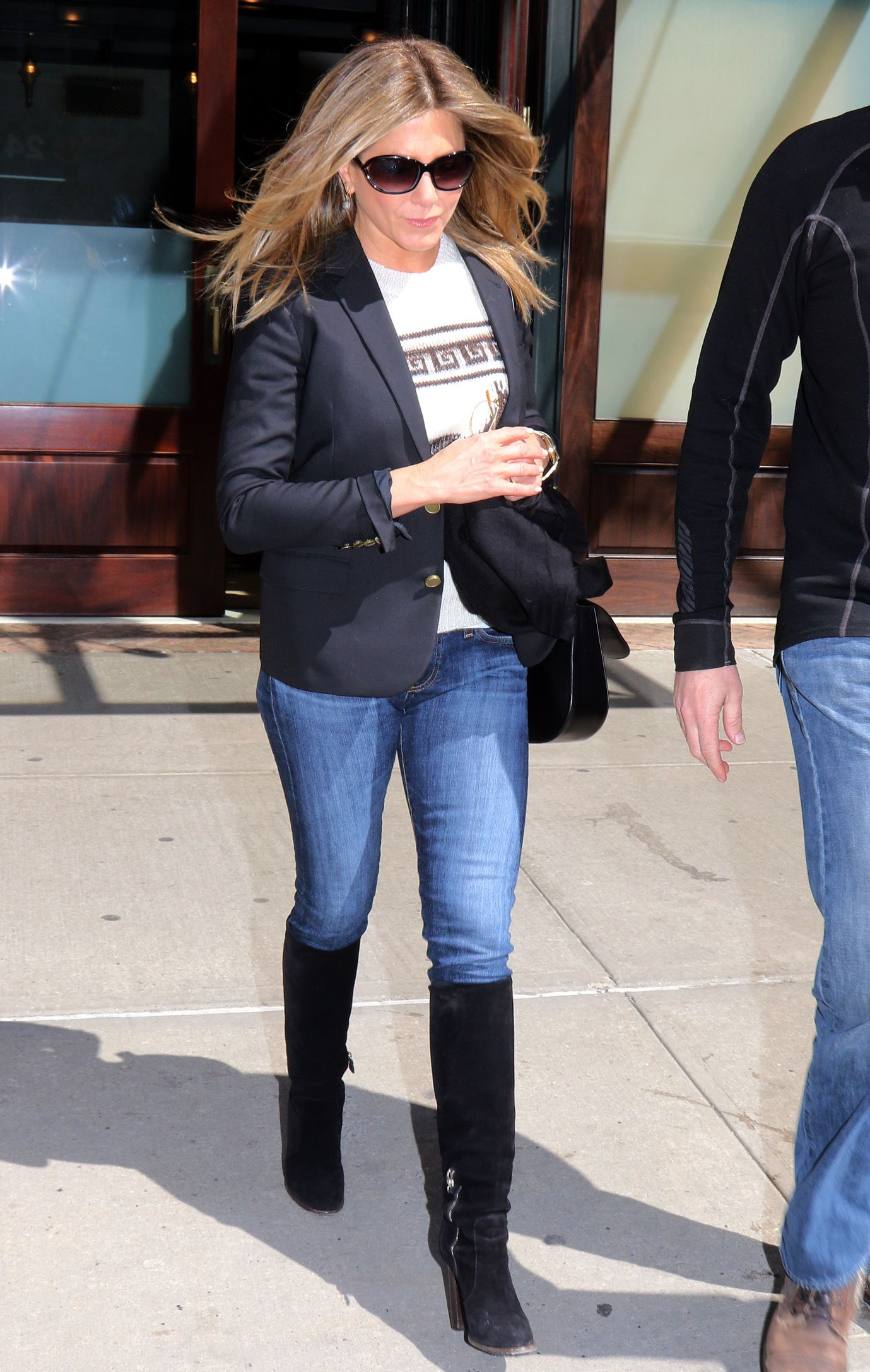 Jennifer Aniston wears Boyskinny (Skinny Jeans ) | Style ...