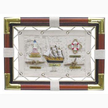 Knotentafel holz stoff messing 36x26cm knotennamen in englisch maritime dekoration pinterest - Dekoration englisch ...