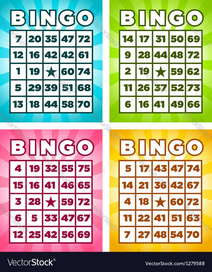 Bingo Cards vector image on Bingo cards, Card banner