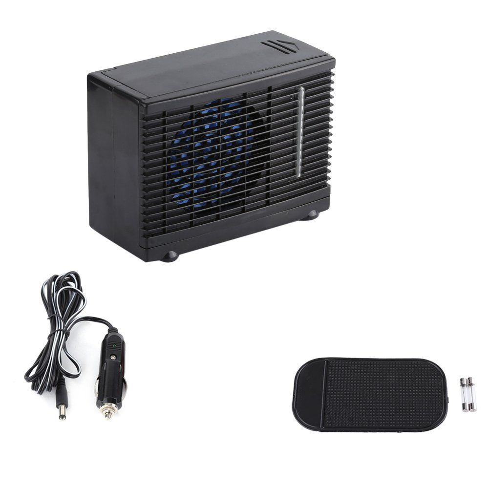 Zerone Car Air Conditioner Fan Universal Dc 12v Mini Portable Air Conditioner Fan Low Noise Black Evap Portable Air Cooler Cooling Fan Portable Air Conditioner
