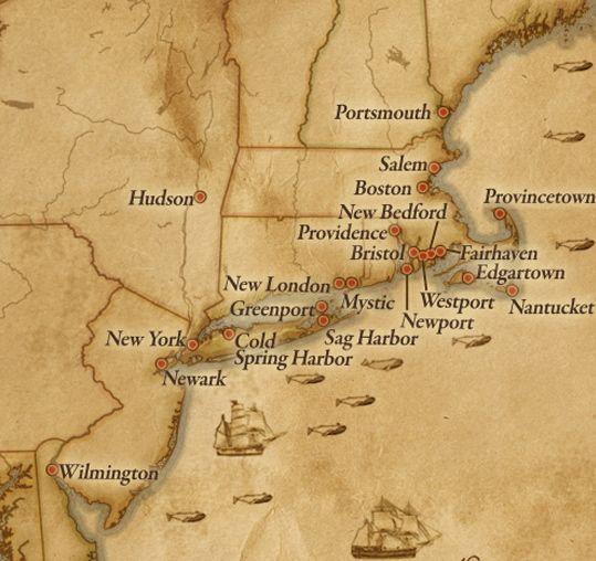 New England Map Usa Americas West Coast Was Also Home To - Us east coast ports map
