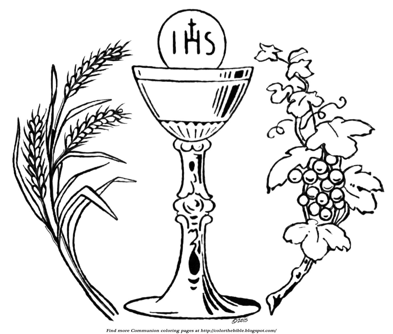 Wheat And Grapes Communion Coloring Page Coloring Pages