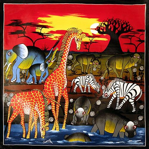 famous african paintings | ... Tinga – Most Famous Colorful ...