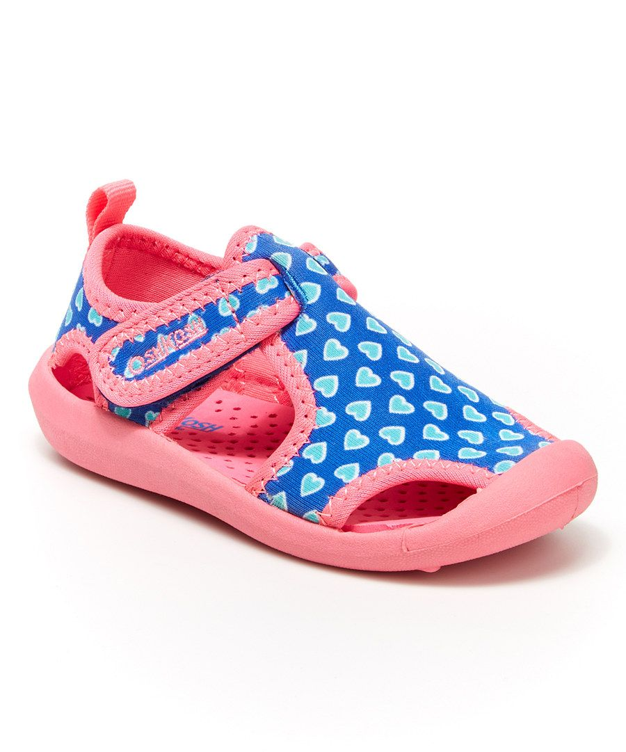 Look at this OshKosh B'gosh Blue & Pink Heart Aquatic Water Shoe on #zulily today!