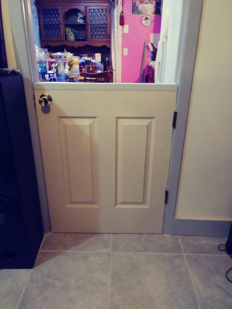 Half Door For Pets Bought A Full Size And Had My Husband Cut It