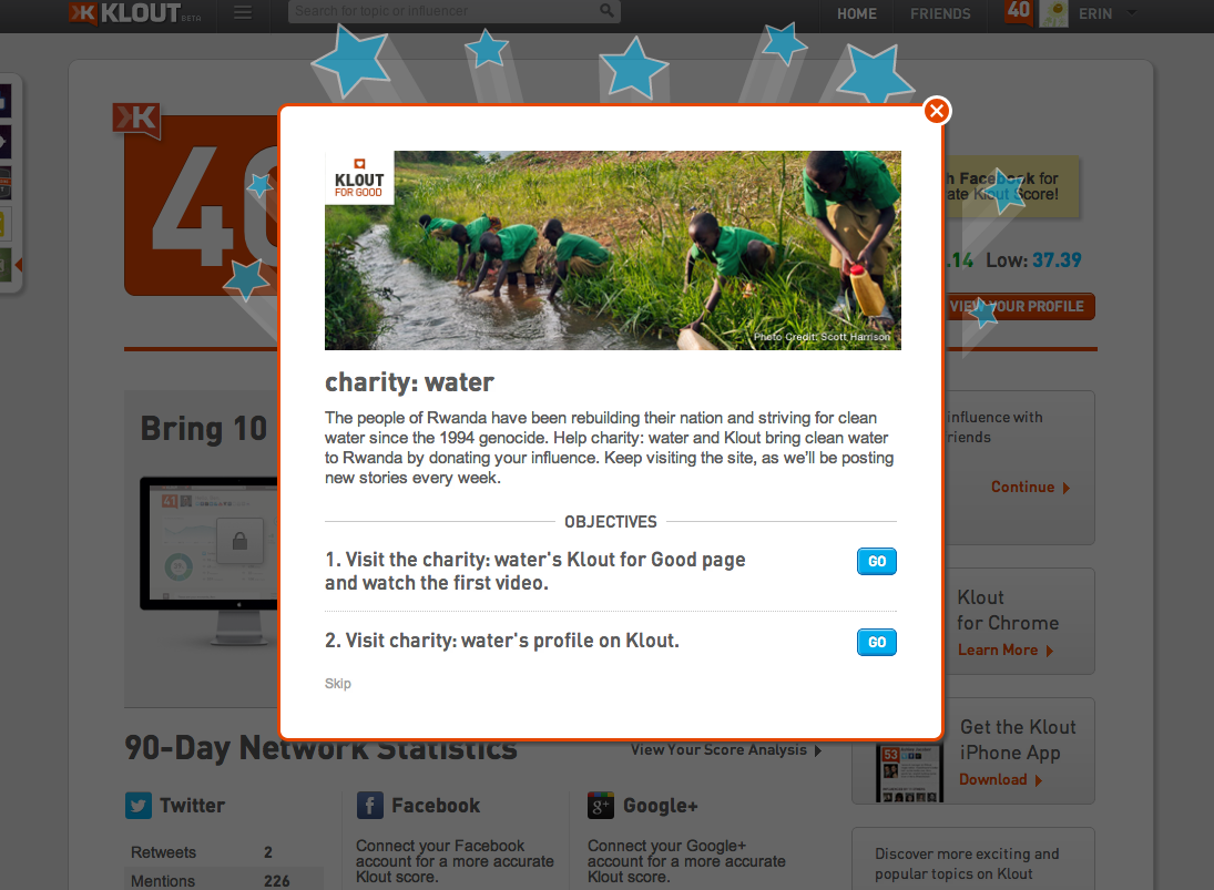 Erin Klout This Cool Popup Has Cool Semi Transparent Starbursts Site Design Clean Water Erin