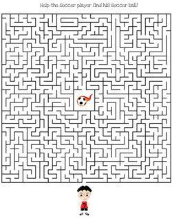 printable soccer maze games hard | MAZE | Maze game, Mazes