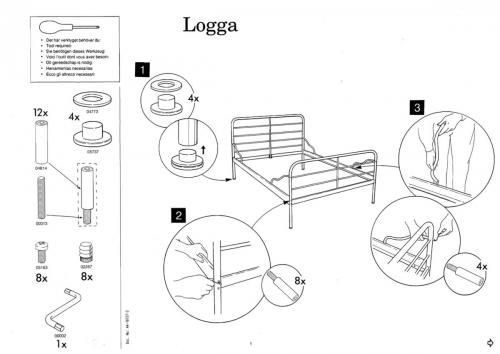 Logga Bed Instructions Annotated Ikea Fans Instruction Ikea
