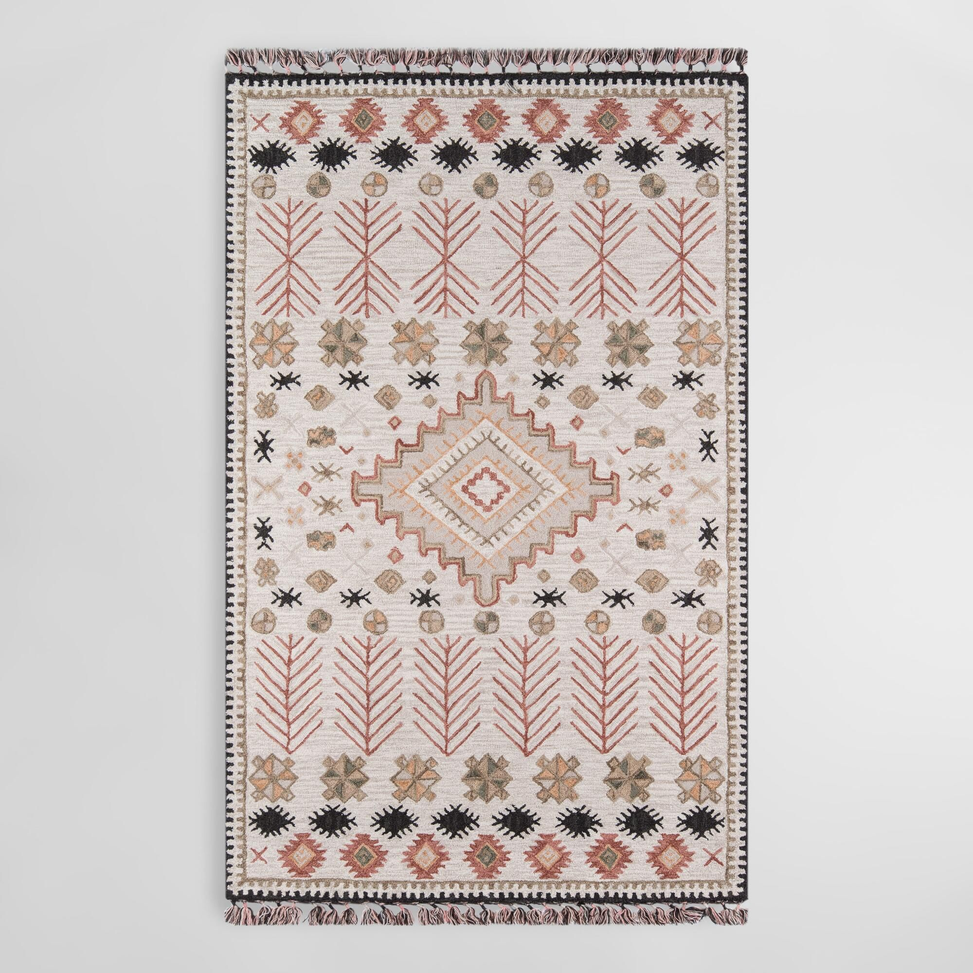 Ivory And Spice Tufted Wool Aelin Area Rug With Images Hand