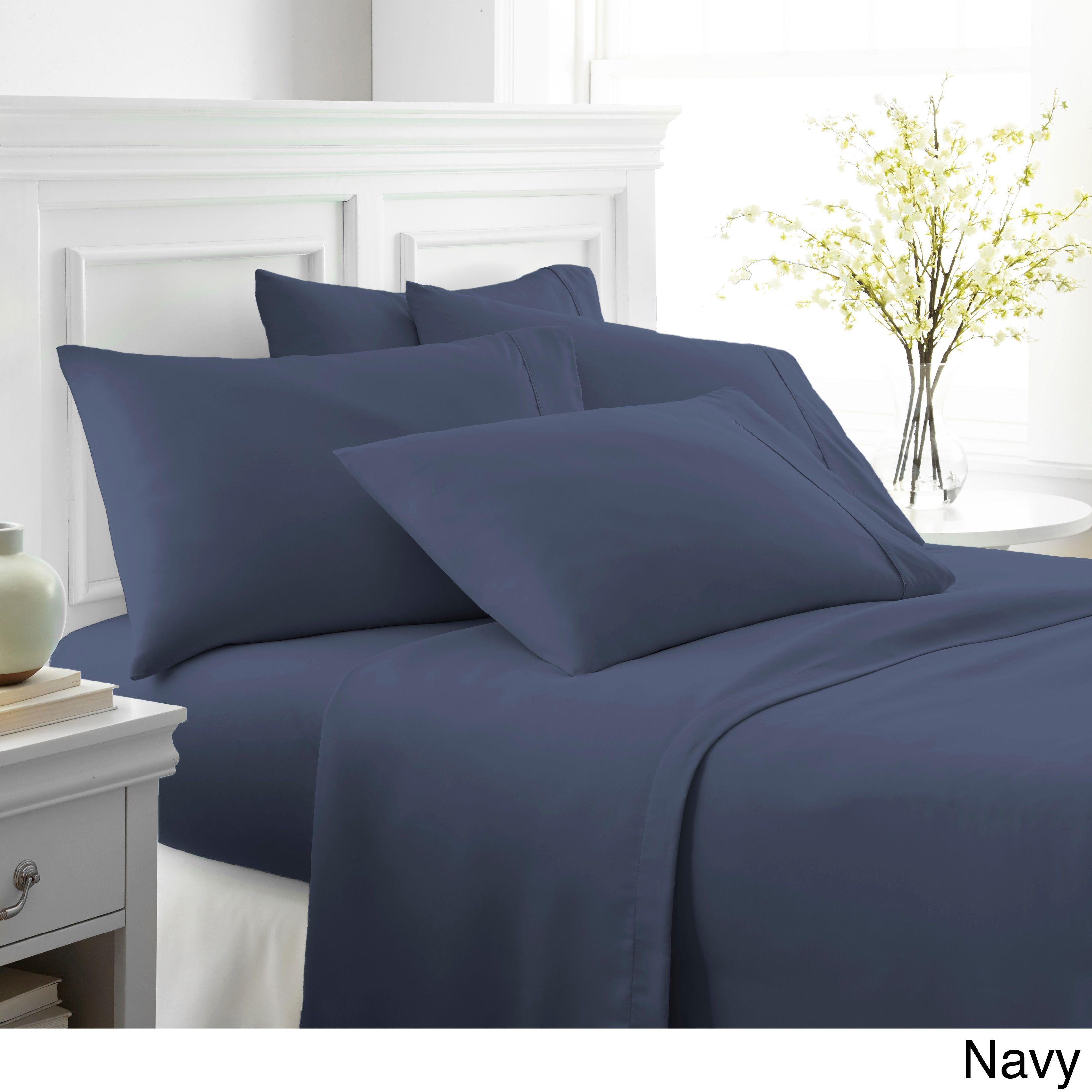 Merit Linens100 Percent Brushed 6 Piece Bed Sheet Set