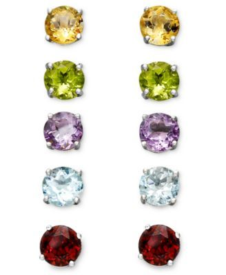 7781c35fd4efb Victoria Townsend Sterling Silver Multi-Stone Interchangeable Stud ...