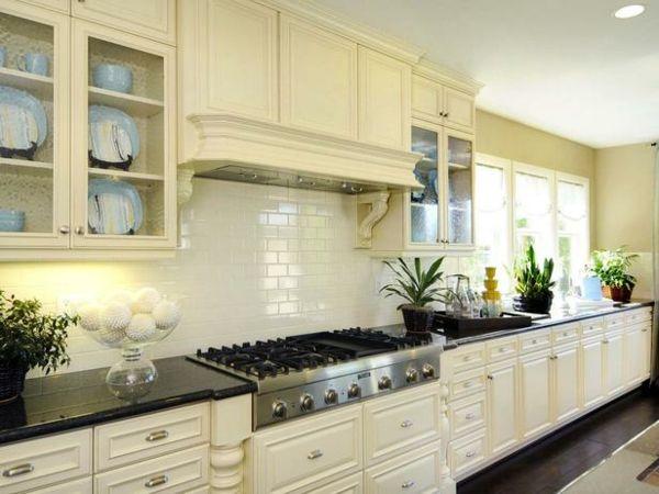 Lieblich Fliesenspiegel Für Küchen Klassisch Weiß Rückwände