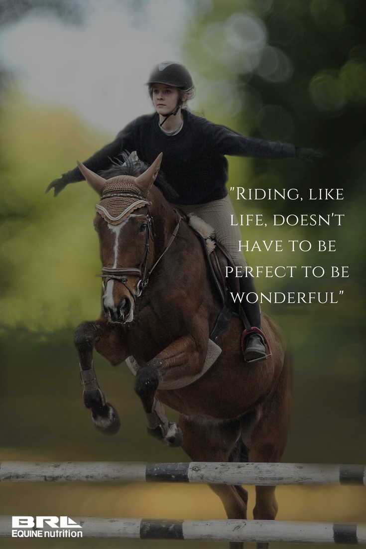 Riding, like life, doesn\'t have to be perfect to be ...