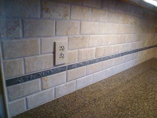 Decorative Travertine Tile Travertine Backsplash  Bales Contractor  Finish The Kitchen