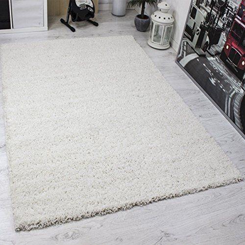 Prime Shaggy Teppich Weiss Hochflor Langflor Teppiche Modern für - schlafzimmer teppich