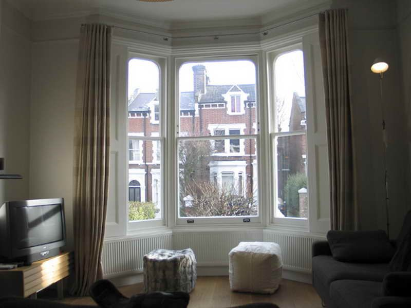 linen curtains for bay windows