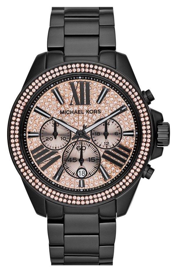 Michael Michael Kors Wren Pave Dial Chronograph Bracelet Watch 42mm Details On Lowkr Com Michael Kors Uhren Damen Handtaschen Michael Kors Michael Kors Uhr