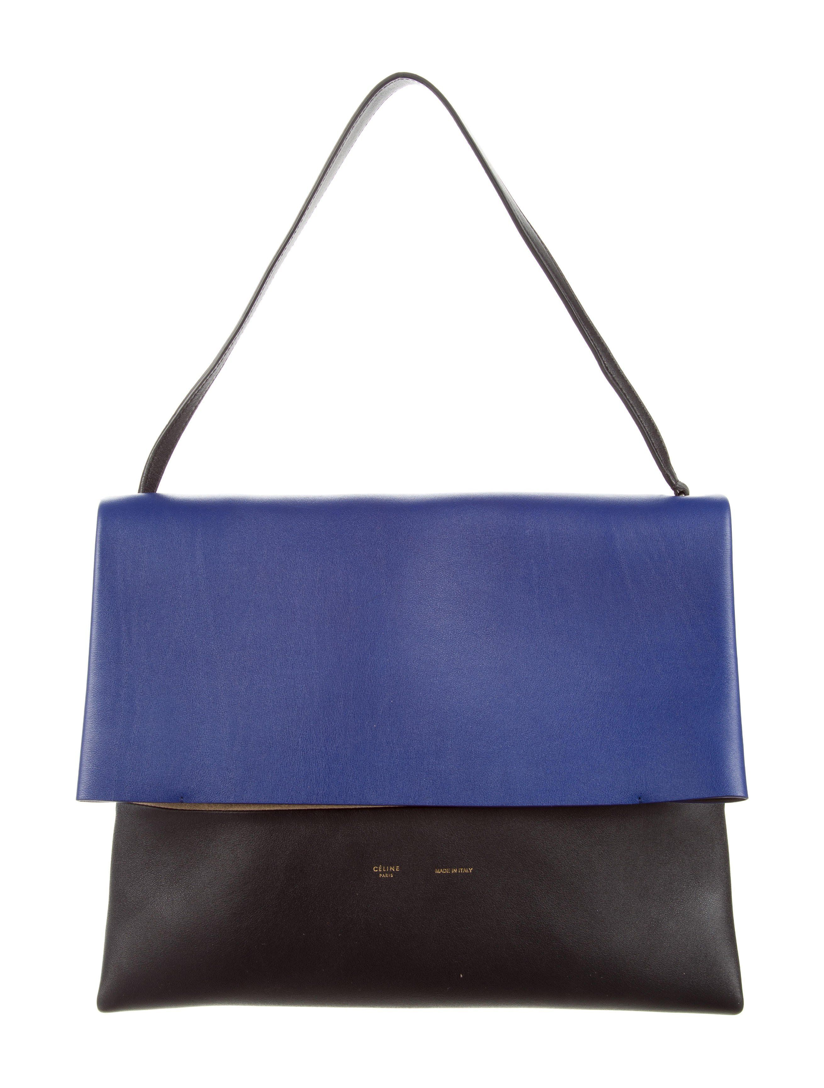 From the 2013 Collection by Phoebe Philo. Cobalt and black Céline All Soft  tote with 6cc3981318abb