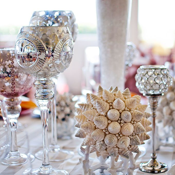 Glamorous Beach Wedding Decor This Is Too Glam For Me But I Like The