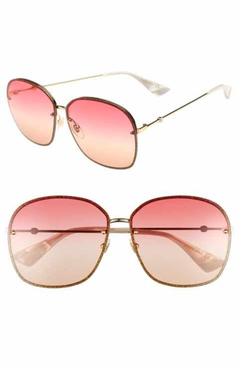 6f8803c1ed Gucci 63mm Oversize Square Sunglasses