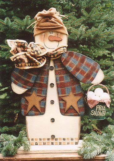 HM22.jpg 367×517 pixels. Love the rustic feel of this cute snowman.