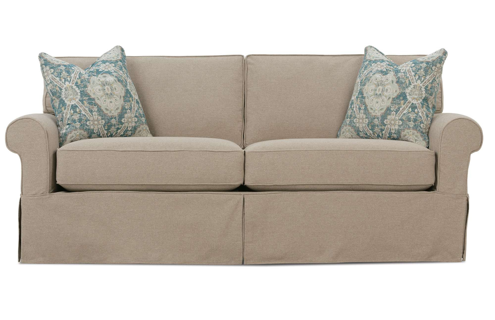Nantucket 2 seat slipcover queen sleeper sofa rowe furniture rowe - The Nantucket Two Cushion Is A Modern Rowe Furniture Design That Features An Upholstered Slipcover Customize The Fabric And Finishes Here