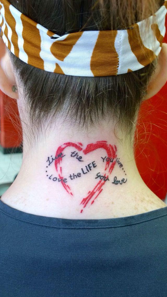 Love The Life You Live Live The Life You Love Painted Tattoo