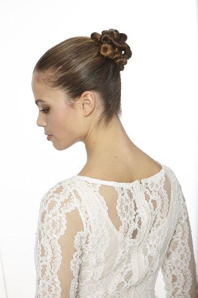 Chignon danseuse torsadé coiffure mariage Coiffures