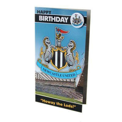 Newcastle United F C Birthday Card With Badge Birthday Cards Soccer Birthday Cards
