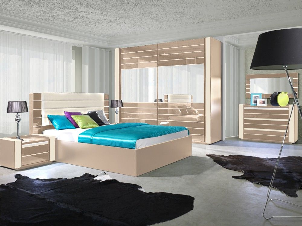 Hochglanz Schlafzimmer Set mit Boxspringbett RivaBOX Pinterest