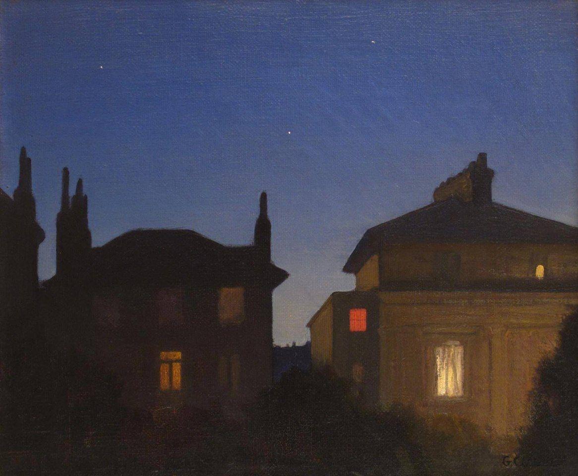 George Clausen 1852 1944 British Summer Night St John S Wood Night Painting Night Art Painting