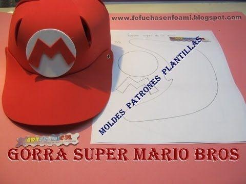 COMO HACER GORRAS DE SUPER MARIO BROS EN FOAMY CON MOLDES ...