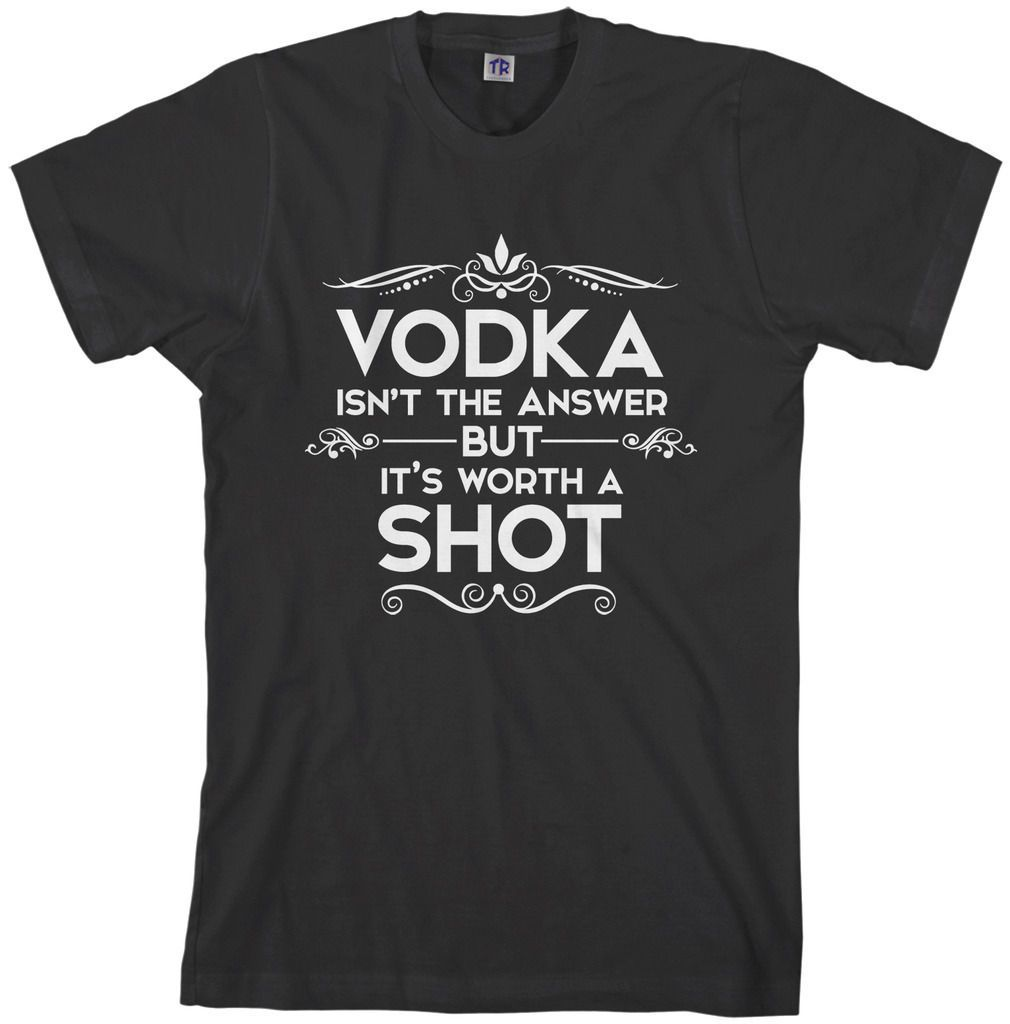 Threadrock Men/'s Vodka Isn/'t the Answer Hoodie Sweatshirt Funny Drinking