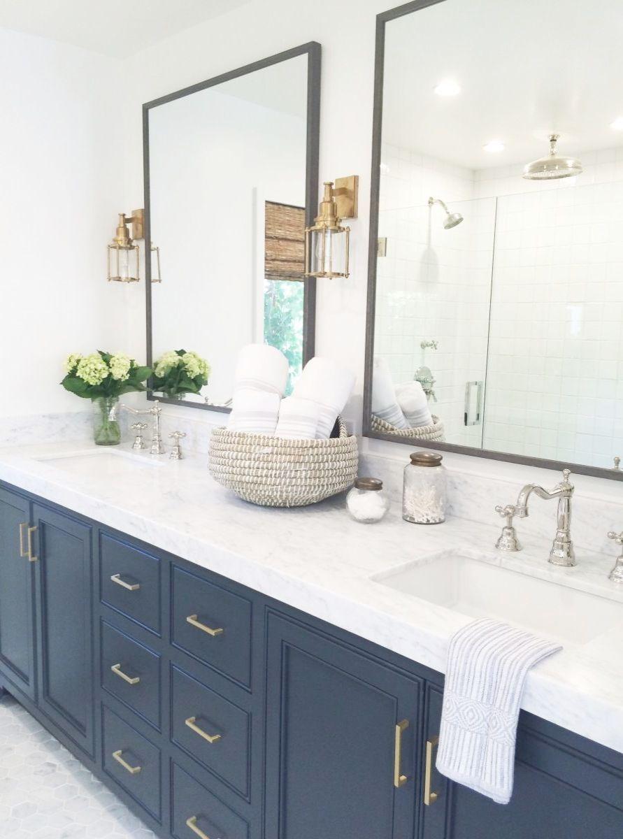 Bathroom Ideas Grey Vanity Bathroom Decor Houzz Great Bathroom Ideas Bathroom Navy Bathroom Bathroom Trends 2017