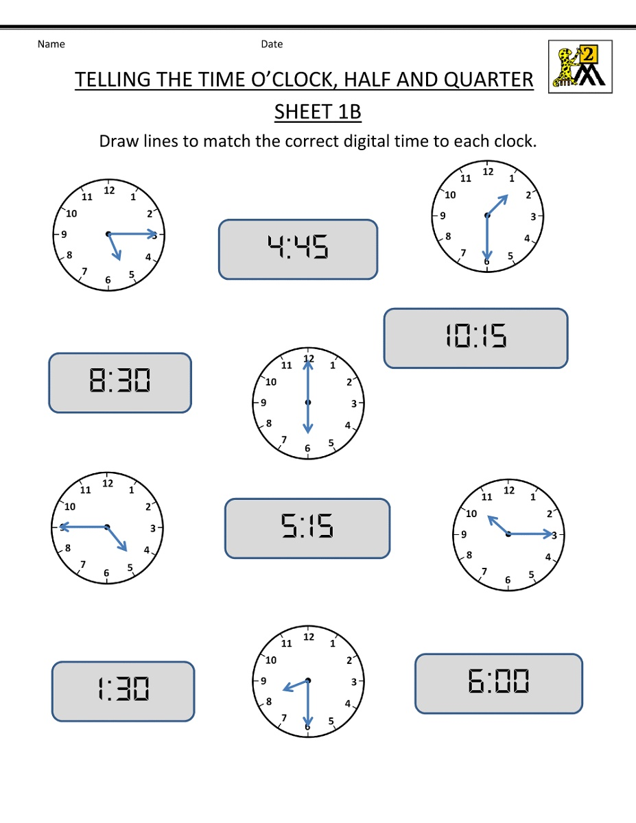 small resolution of Math Worksheets For Grade 2 Telling Time   Time worksheets