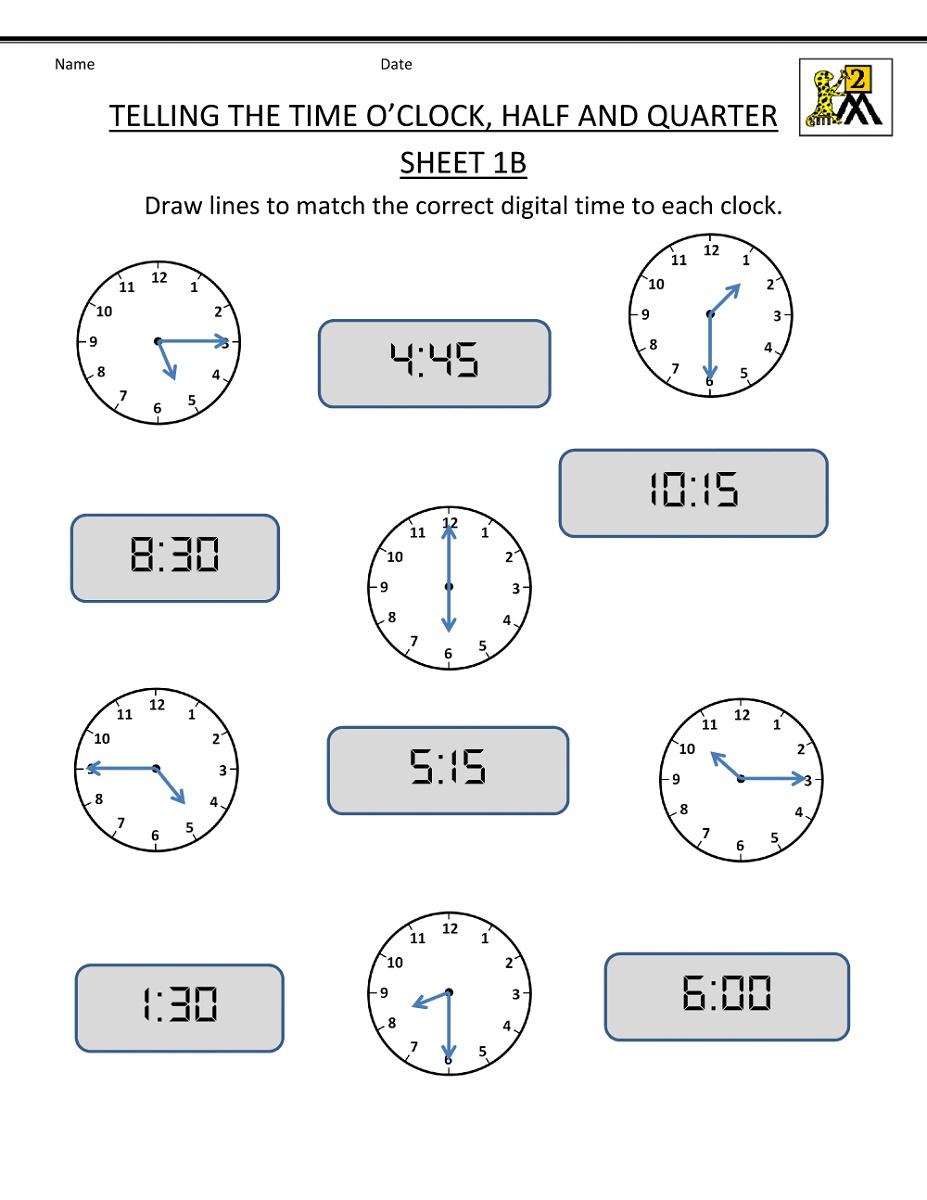Math Worksheets For Grade 2 Telling Time   Time worksheets [ 1200 x 927 Pixel ]