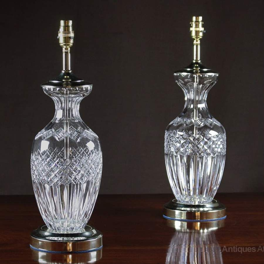 Antiques atlas pair cut glass table lamps set of 2 excelsior molded glass antiques atlas pair cut glass table lamps mozeypictures Gallery