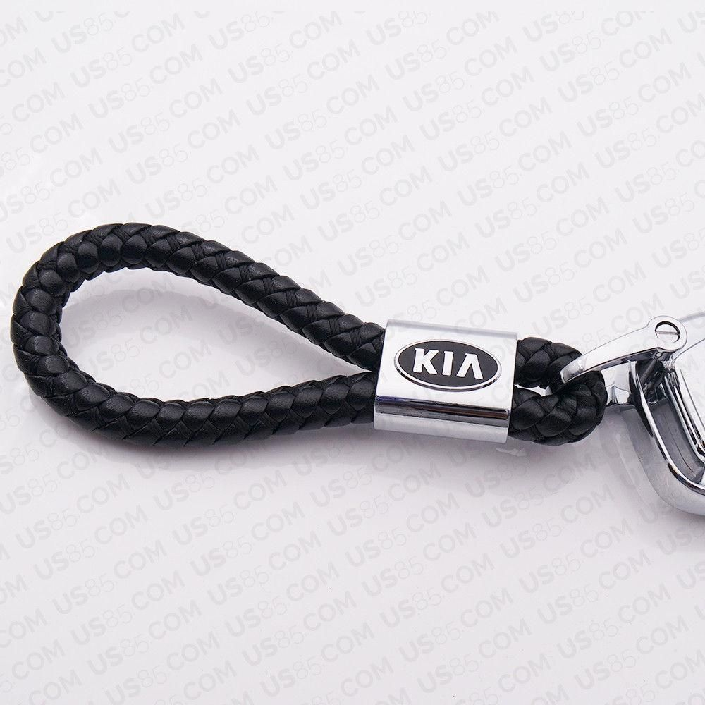 Car Emblem Logo Key Chain Ring BV Style Leather Gift Decoration Black for Honda