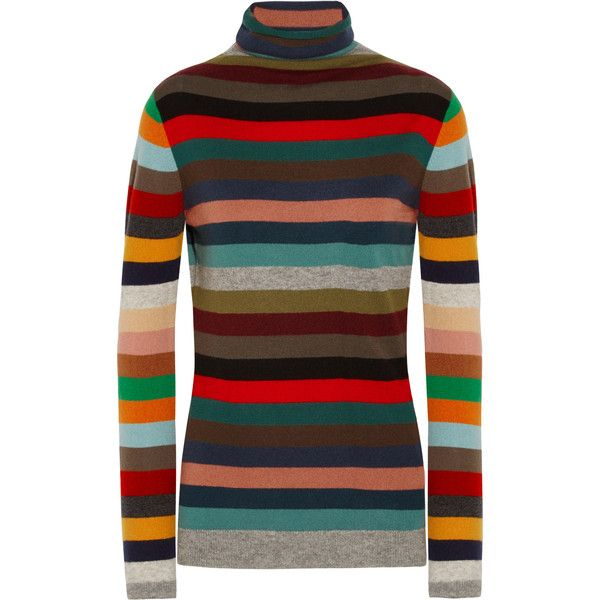 Turtleneck Cashmere Striped On ❤ Sweater Liked Allude 300 ERqvWqx