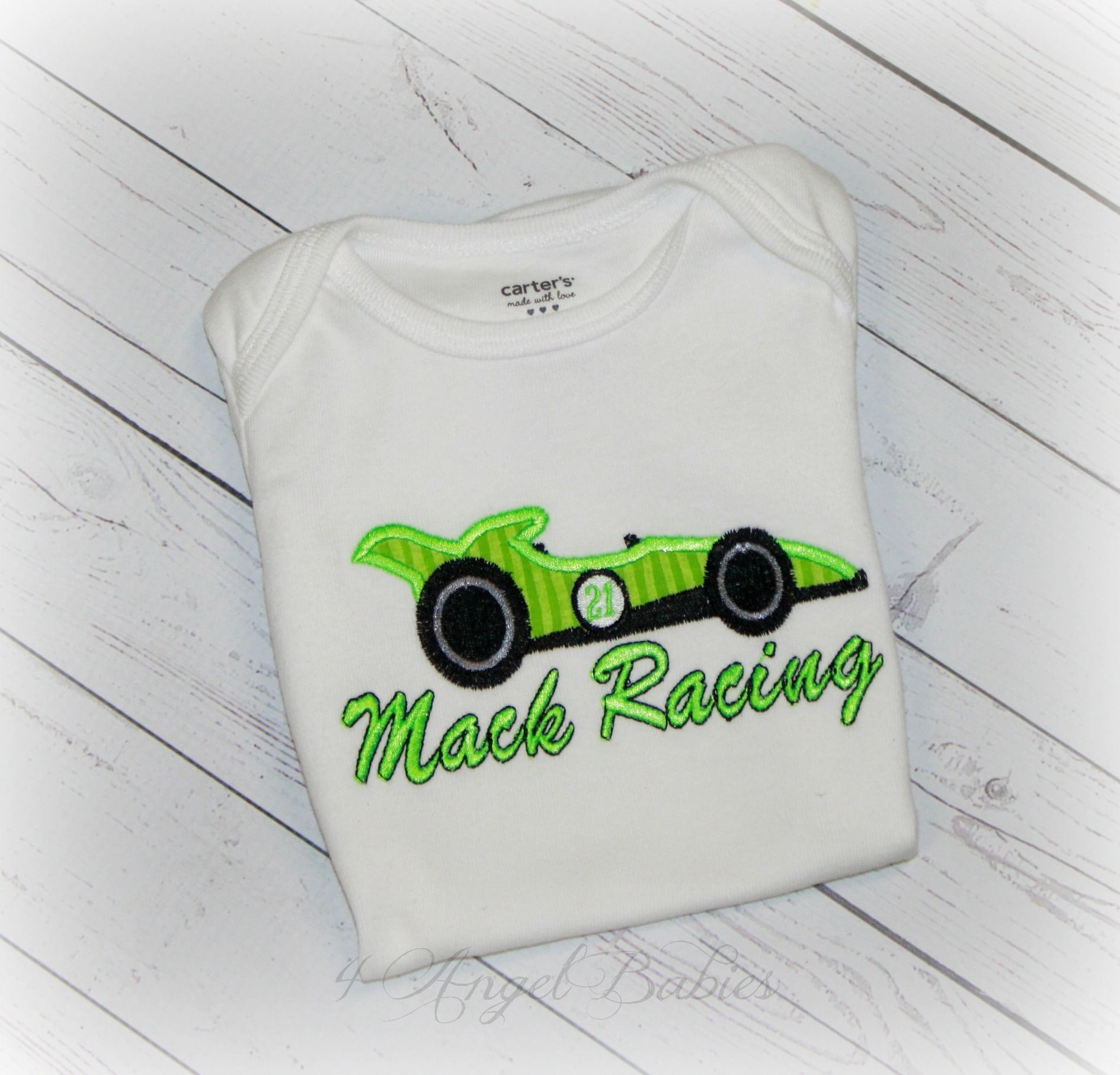 Race car lime green personalized birthday or baby gift shirt or race car lime green personalized birthday or baby gift shirt or bodysuit personalized with name negle Choice Image
