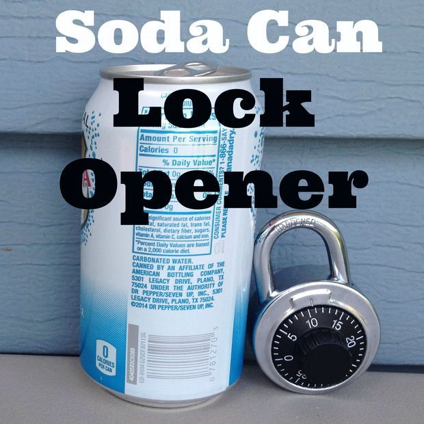 Open Pad Locks And Combination Locks With A Soda Can Combination Locks Lock Shims Soda Can