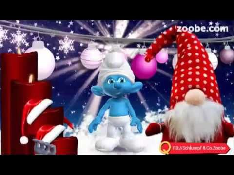 2 advent schlumpf videos zoobe schl mpfe animation niedlich kochrezepte advents gr e - Schlumpf weihnachten ...