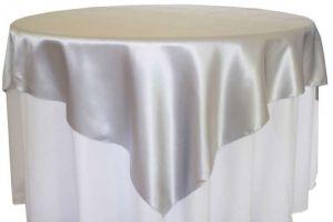 Wedding Linens Direct Silver 85x85 Satin Table Overlays Tablecloth Table Overlays Wedding Table Overlays Wedding Linens