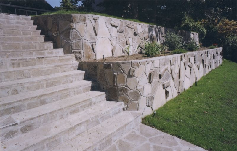 Retaining Walls Portland Or Services Recycled Concrete Stone Retaining Wall Retaining Wall