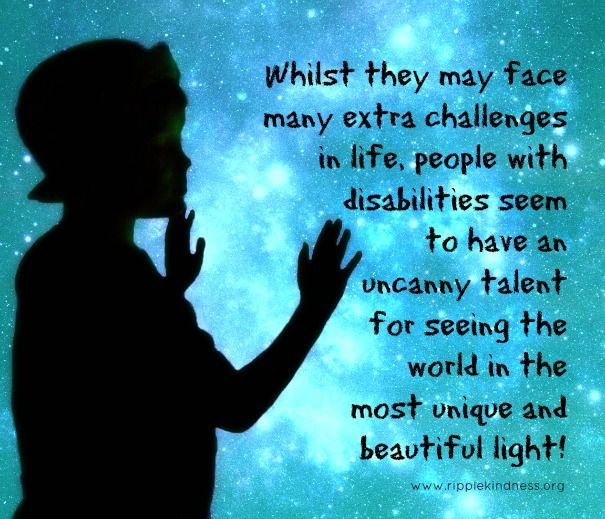 God sent that man to open my eyes Disability quotes