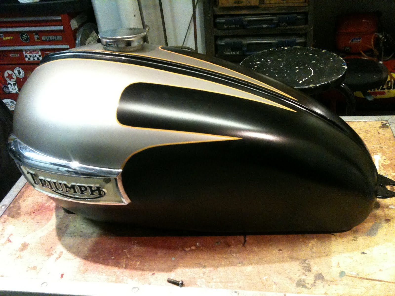 Triumph Tank Black Scallop Paint Google Search Motorcycles And
